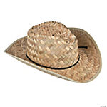 Adult's Classic Straw Cowboy Hat