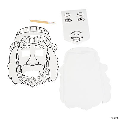 Color Your Own Jesus Heals the Blind Man Activities Novelty Crafts xQ95exNC
