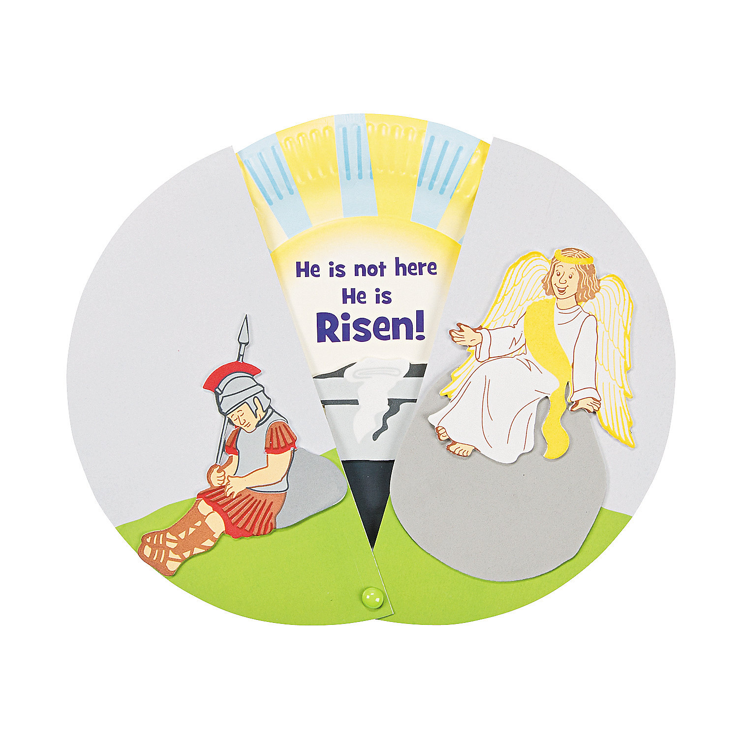 Paper plate empty tomb reveal craft kit oriental trading for Christian sunday school crafts