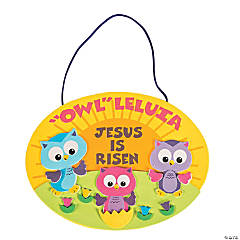 Owl-Leluia Easter Sign Craft Kit