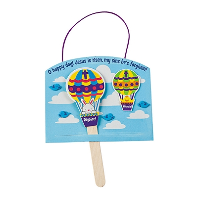 Christ Has Risen Hot Air Balloon Sign Craft Kit