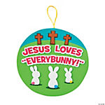 Jesus Loves Every Bunny Sign Craft Kit