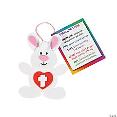 Bunnies Spread God's Love Ornament Craft Kit
