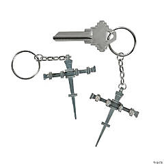 Nail Cross Key Chains