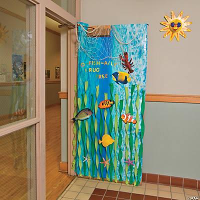 Under the sea door decoration idea for Door decoration