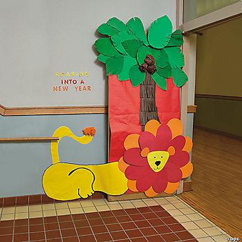 Jungle door decoration idea for Idea door files