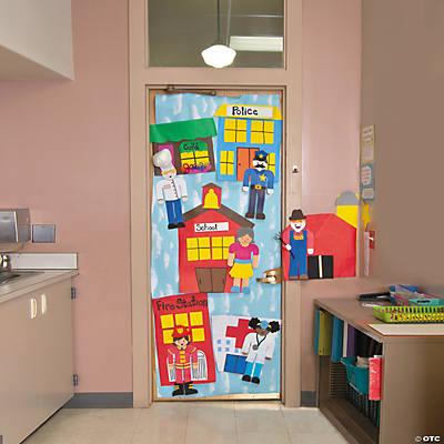 Community helpers door decoration idea for Idea fire door
