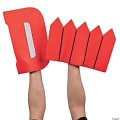 Red D Fence Foam Hands