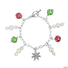 DIY Winter Charm Bracelet Idea