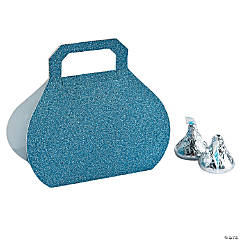 Blue Glitter Favor Boxes