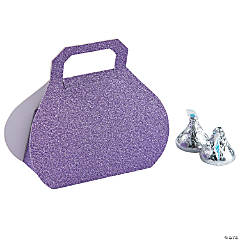 Purple Glitter Favor Boxes