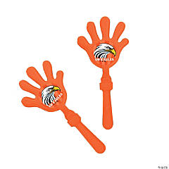 Orange Team Spirit Custom Photo Hand Clappers