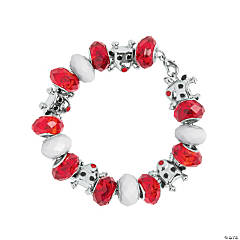 Reindeer Large Hole Beaded Bracelet