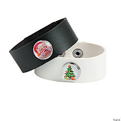 DIY Christmas Snap Bracelet Idea
