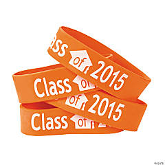 Orange Class of 2015 Big Band Bracelets