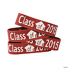 Burgundy Class of 2015 Big Band Bracelets