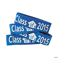 Blue Class of 2015 Big Band Bracelets