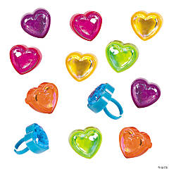 Plastic Heart-Shaped Ring Stamper Assortment