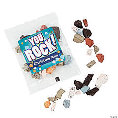 Personalized Chocolate Rock Candy Fun Packs