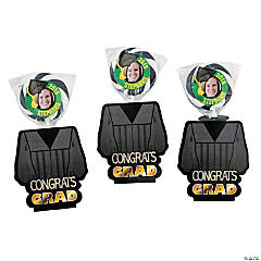 Graduation Custom Photo Swirl Pops in Gown