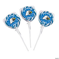 Blue Team Spirit Custom Photo Swirl Pops