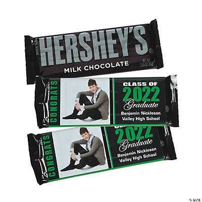 Graduation custom photo candy bar stickers