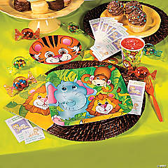 Zoo Animals Baby Shower Party Supplies