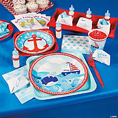 Little Sailor Baby Shower Party Supplies
