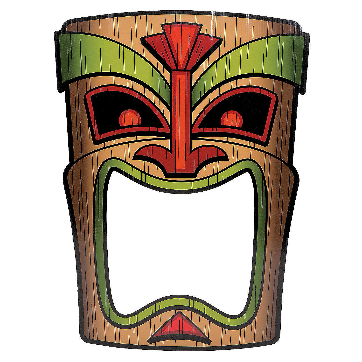Tiki photo prop photo booth props costume accessories for Tiki hawaiano