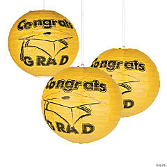 Yellow Congrats Grad Paper Lanterns