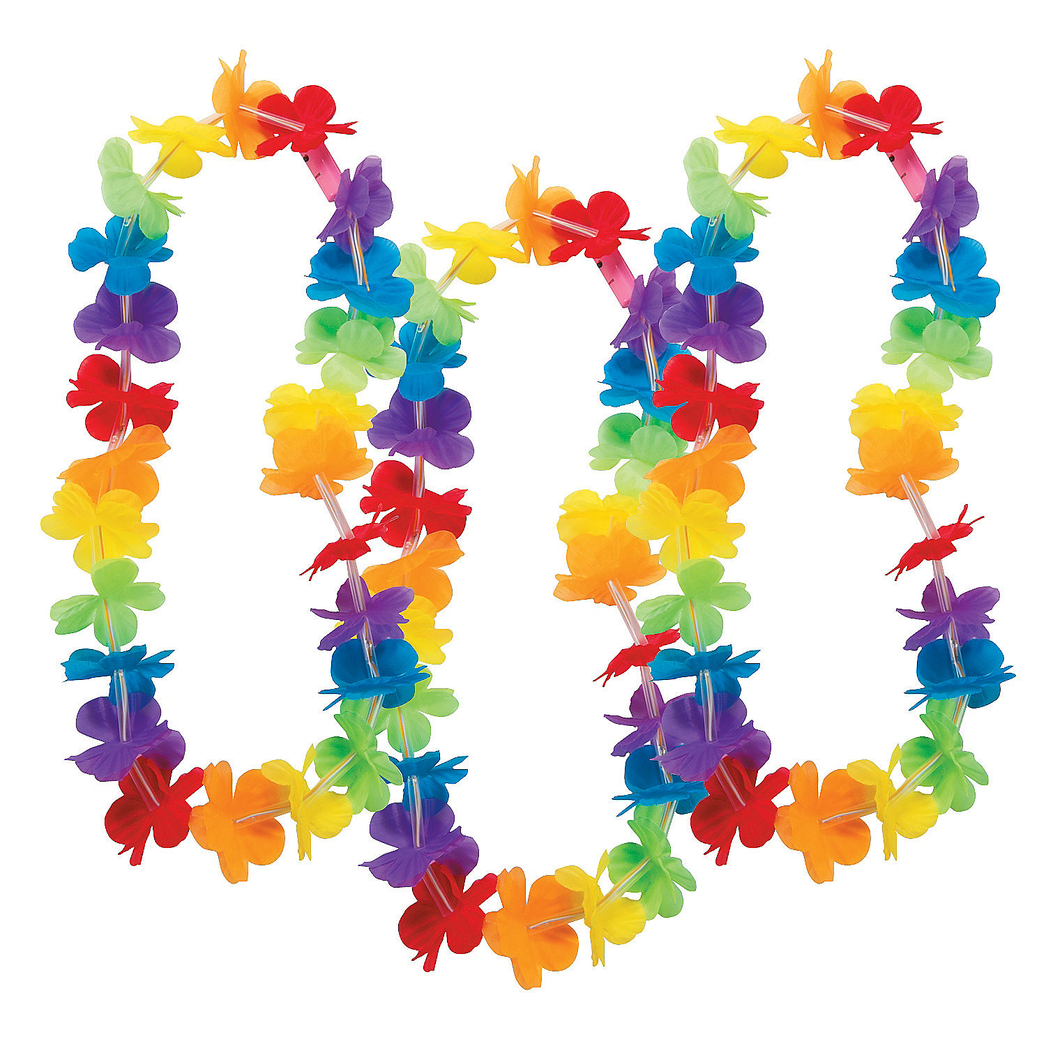 Light Up Rainbow Flower Leis Hawaiian Leis Costume Accessories Costumes A