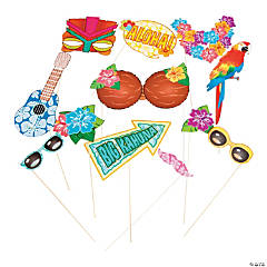 Cardstock Luau Photo Stick Props