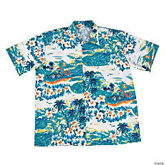 Adult's Extra Large Button Up Luau Shirt