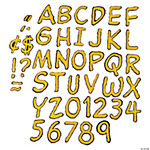 Peanuts Bulletin Board Letters - Yellow