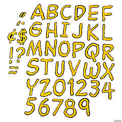 Peanuts® Bulletin Board Letters - Yellow