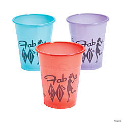 Plastic Rockin' 50's Disposable Cups