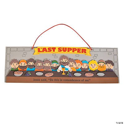 jesus disciples last supper sign craft kit sign crafts