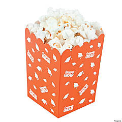 Orange Congrats Grad Popcorn Boxes