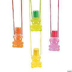 Bear Bubble Bottle Necklaces