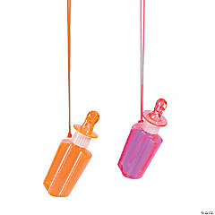 Popsicle Bubble Necklaces with Whistle