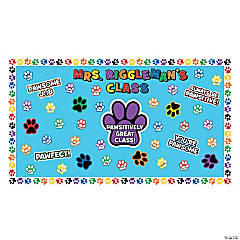 Paw Print Bulletin Board Set