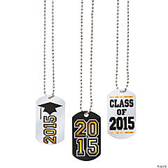 Graduation Dog Tag Necklaces