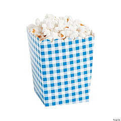 Blue Gingham Popcorn Boxes