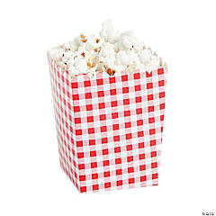 Red Gingham Popcorn Boxes