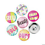 Large Fun Word Snap Beads - 18mm