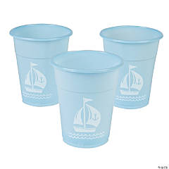 Plastic Nautical Baby Shower Disposable Cups
