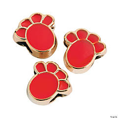 Red Paw Beads-13mm