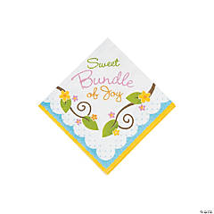 Owl Baby Shower Beverage Napkins