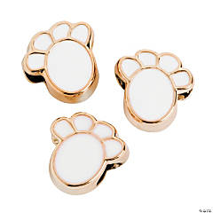 White Paw Beads - 13mm
