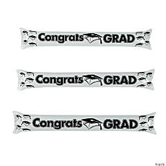 Inflatable White Graduation Boom Sticks